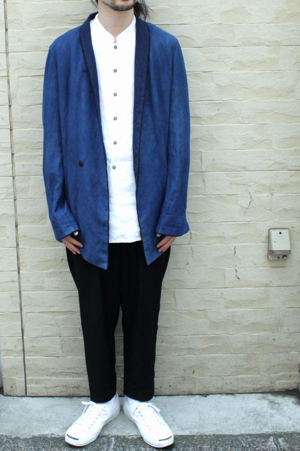 theSakaki 14SS Shawl Collar Indigo Jacket