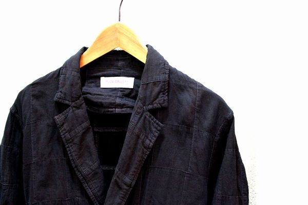 RUDEGALLERY 16SS WIZARD CITY ROBE - BLACK OVER DYED ローブ コート