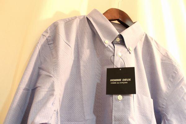 COMMEdesGARCONSHOMMEDEUX AD2015 ピンドット ボタンダウンシャツ