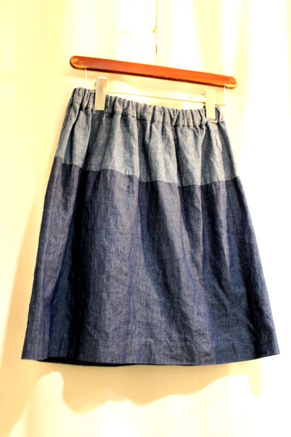 COSMICWONDER コズミックワンダー 15SS デニムとシャンブレーのスカート