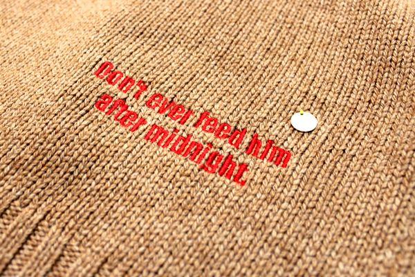 MUVEIL × GREMLINS 14AW グレムリン ストライプポップセーター ニット