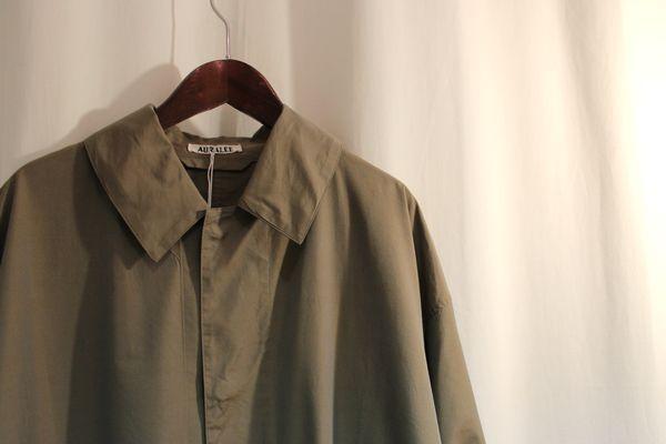 AURALEE オーラリー 17SS FINX CHAMBRAY BIG SOUTIEN COLLAR COAT コート