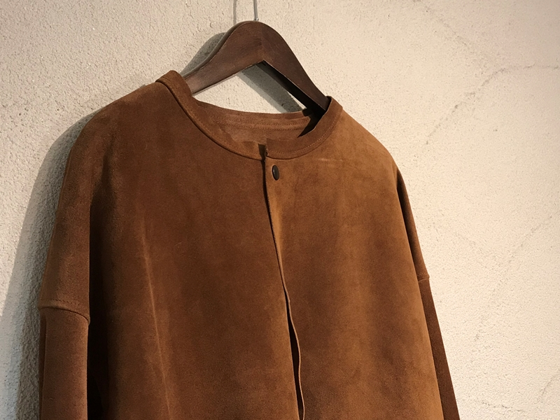 UNUSED アンユーズド 18SS No Collar Suede Jacket.
